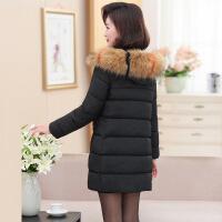新款妈妈棉衣女50中老年女装冬装40中长款秋冬外套加厚款羽绒