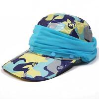 遮阳帽子 户外骑电动车防晒太阳帽 女夏天遮脸可折叠鸭舌帽