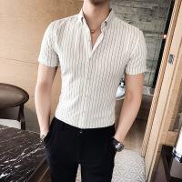 短袖�r衫男修身�n版����l�y�r衣潮流青年休�e��I半袖寸衣