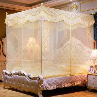 夏上新蚊帐拉链三开门坐床式方顶蒙古包公主风1.2/1.5m米1.8m床双人家用