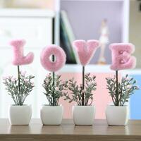 家居摆件仿真花套装 装饰花假花盆栽盆景植物客厅绿植装饰品摆件