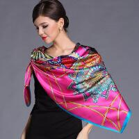 杭州丝绸超大重磅真丝围巾桑蚕丝大方巾秋冬女士丝巾披肩