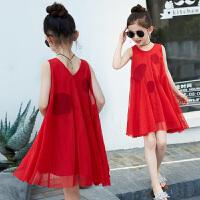 连衣裙夏装新款韩版中大童儿童装夏季无袖公主裙女孩裙子