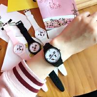 韩国表情日系休闲小清新原宿软妹可爱糖果色硅胶情侣学生手表女生