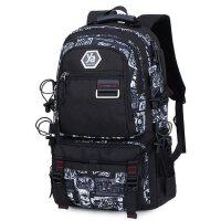 时尚潮流电脑包双肩包 日韩版旅游背包大容量旅行包 男新款学生书包