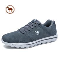 【每满100减50】骆驼牌男鞋 冬季新品日常休闲反绒牛皮系带健步运动休闲鞋