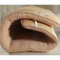羊毛绒床垫加绒加厚保暖仿羊绒床褥1.8m床折叠被褥学生榻榻米垫被/