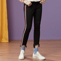 【全场2件2.5折,到手价:49.8】美特斯邦威牛仔裤女紧身九分小脚裤彩色荆条铅笔裤秋装新款