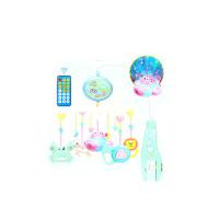 婴儿床铃音乐旋转摇铃0-6个月0-1岁-3-12个月挂件玩具新生儿宝宝 星空物语1541内容摇控汽车投影 充电+礼品