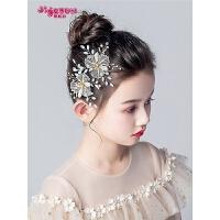 女孩可爱韩版小花童配饰儿童头花饰品白色发夹女童发饰公主头饰