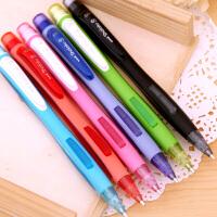 日本uni三菱M5-228彩色活动铅笔可爱儿童考试侧按糖果色0.5自动铅笔批发小学生写不断文具字动制动铅笔三棱