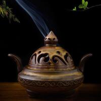 仿古陶瓷香炉摆件线香熏香炉香器香薰炉香道用品