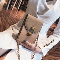 韩版包包2018春季潮新款女包链条迷你小包个性锁扣单肩斜挎小方包