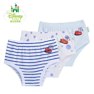 【卷后119元4件】迪士尼Disney儿童精梳棉内裤小童宝宝幼儿三角裤3条装153P706