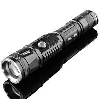 强光手电筒带USB 变焦远射led户外骑行手电筒