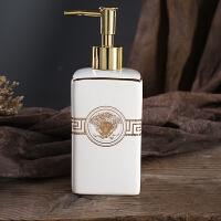 洗手液瓶欧式陶瓷创意乳液瓶分装瓶空套装洗发水沐浴露瓶子 女神系列 白色 (450ml)