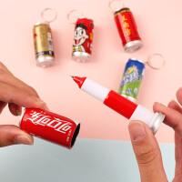 易拉罐饮料伸缩圆珠笔可爱创意韩国迷你口袋笔短款小号随身油笔学生