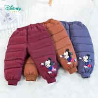 【2件3折到手价:84.6】迪士尼Disney童装 男童轻盈保暖羽绒裤冬季新品萌趣米奇印花裤子194K878