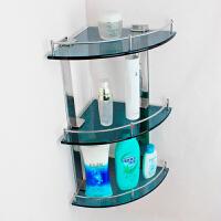 三层转角浴室玻璃置物架卫生间收纳架304不锈钢角架整体卫浴挂件