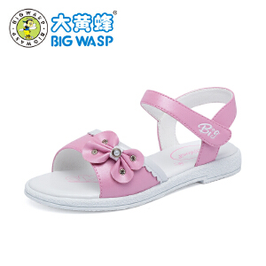 大黄蜂童鞋 女童凉鞋2018新款韩版 夏季露趾公主鞋中大童3-12岁