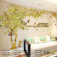 创意树3d立体亚克力墙贴纸画客厅沙发电视背景墙房间温馨创意装饰 超