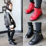 女童马丁靴2017新款儿童靴子秋冬女童鞋韩版棉鞋学生冬靴冬季短靴