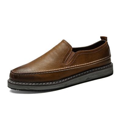 秋季男鞋子英伦风布洛克小皮鞋男板鞋韩版潮流增高休闲男豆豆潮鞋