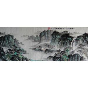 职业画家   王平  山深云满屋六尺