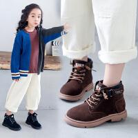 女童短靴2019冬季新款学生靴子英伦风时尚儿童马丁靴加绒鞋底棉鞋