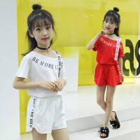 女童夏装新款套装韩版时尚童装中大童短袖儿童运动洋气两件套