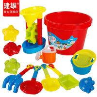 建雄儿童沙滩玩具决明子套装桶宝宝挖土挖沙沙漏大铲子玩沙子工具