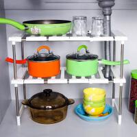 白领公社 厨房用品 整理收纳 厨房置物架 不锈钢可伸缩下水槽架子调味品 厨房用品置物架收纳架 创意锅架衣柜层架