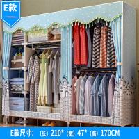 简易布衣柜 钢管加粗加固双人组装布艺收纳衣橱柜经济型简易现代抖音同款