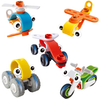 百思奇百变拼装积木车塑料DIY螺母拆装男女孩玩具5款