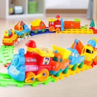 儿童玩具小火车轨道车男孩益智多功能智力动脑电动汽车小孩三四岁