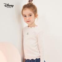 【3折�A估�r:37.2元】迪士尼女童休�e童�b打底衫2020春秋新款�����和�卡通上衣