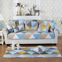 欧式实木真皮沙发垫布艺全棉四季通用防滑坐垫简约现代巾套罩全盖