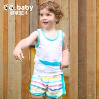 歌歌宝贝宝宝夏装婴儿纯棉夏季内衣背心套装