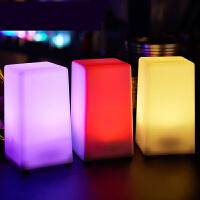 【支持礼品卡】酒吧台灯led充电吧台灯创意usb酒吧灯清吧小夜灯方形酒吧桌灯n6d