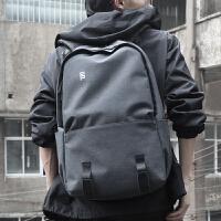 男士双肩包潮牌背包旅行包15.6寸电脑包男时尚潮流男休闲学生书包