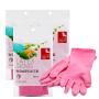 简沃-橡胶手套 清洁手套 家务手套 洗碗手套 耐用绒里乳胶手套中号M*3袋 RY-1509.33