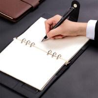 得力3151办公用记事本A5活页6孔笔记本工作商务本子可拆卸线圈本