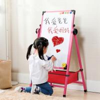 可升降小黑板家用宝宝涂鸦白板 儿童画板合金画架磁性写字板支架式