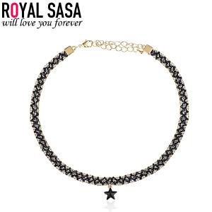 皇家莎莎韩版流行仿水晶时尚星星项链锁骨链 原宿项链女脖链颈圈
