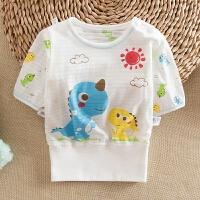 夏季婴儿短袖T恤夏季男女宝宝半袖上衣儿童透气孔半袖上衣T恤衣服
