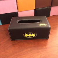 叮当猫卡通小熊长卷纸巾盒小黄鸭 家用车载个性抽纸盒创意 黑色 黑色蝙蝠侠
