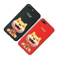 狗年苹果7p手机壳女iPhone八plus8新年款红色硅胶ipone本命年柴犬