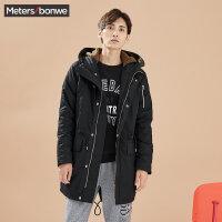 美特斯邦威外套男士秋冬装中长款棉衣外套青少年棉服大衣韩版潮