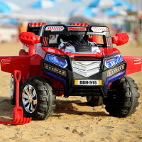 新款悍马双驱双座儿童电动车四轮遥控汽车电瓶车宝宝可坐玩具童车