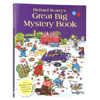 迷迷糊糊的侦探 英文原版绘本 Richard Scarry's Great Big Mystery Book 斯凯瑞金色童书 英文版儿童启蒙侦探故事书籍 正版现货 大开本 观察力与推理能力